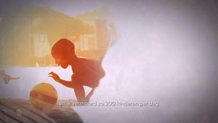 Beeld uit de nieuwe campagne van het Aids Fonds Beeld Aids Fonds/YouTube
