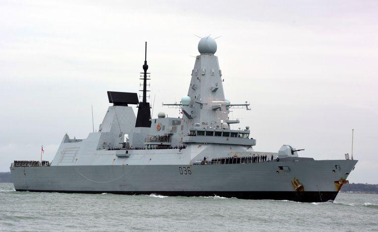 Archiefbeeld van een HMS Defender bij het Britse Portsmouth. Beeld AP
