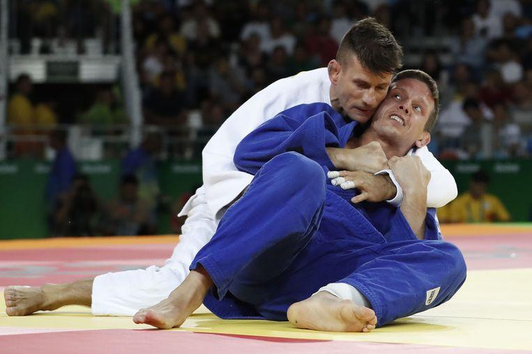 Van Tichelt kampt om olympisch brons in Rio 2016. Beeld AFP