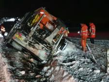 Sneeuwschuiver belandt in sloot tijdens werkzaamheden in Holten