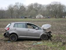 Auto ramt boom in Voorthuizen: 1 gewonde