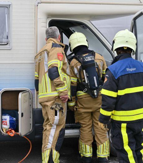 Camperbrand op parkeerplaats Hazeldonk, slachtoffer loopt derdegraads brandwonden op