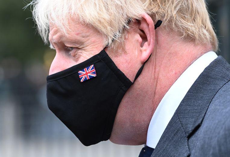 Premier Boris Johnson wil dat Amazon meer belastingen betaalt.  Beeld EPA