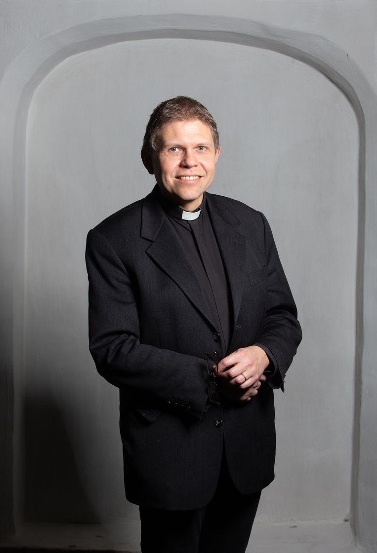 Bernd Wallet, de nieuwe aartsbisschop van de Oud-Katholieke Kerk in Utrecht.  Beeld Peter Boer
