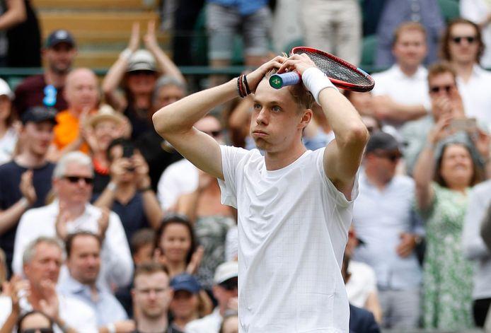 Denis Shapovalov kon het niet geloven dat hij de halve finale van Wimbledon bereikt.