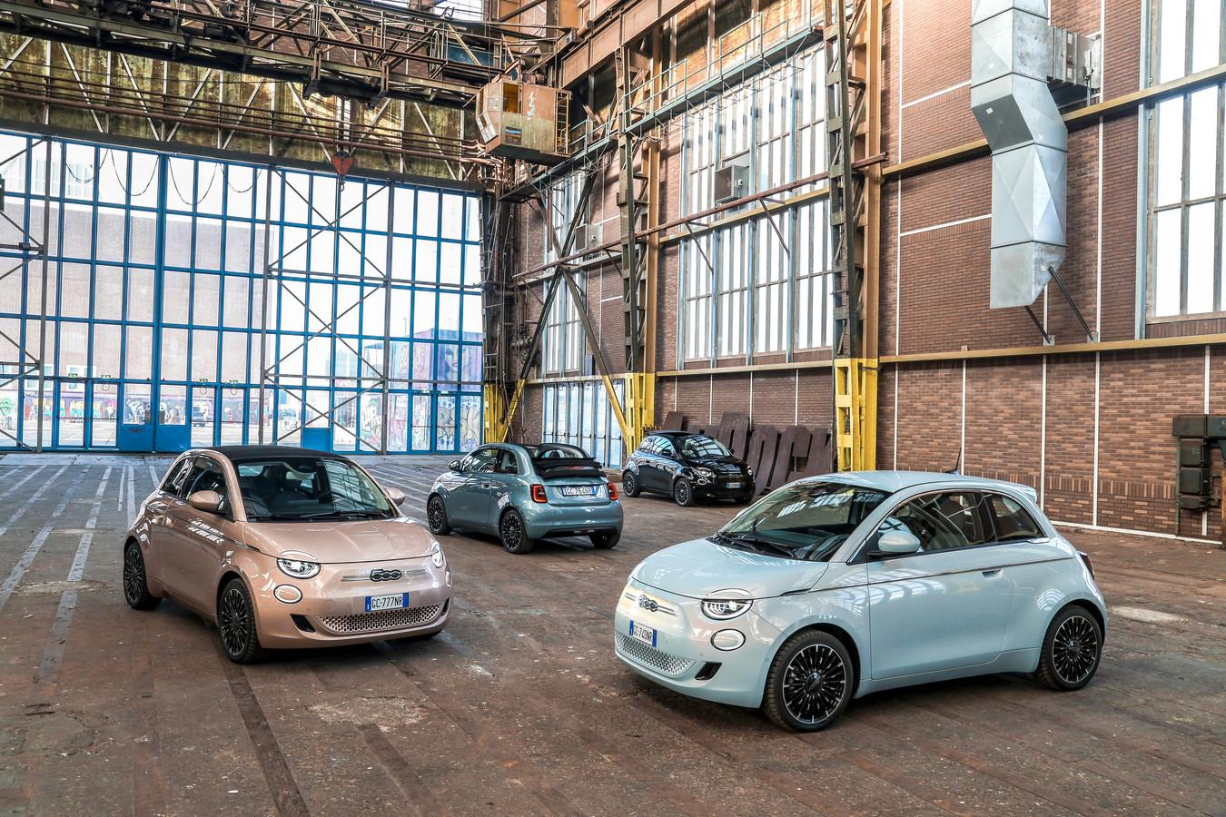 De Fiat 500e komt er voorlopig in drie smaken: als 500e, als 500Ce en als 3+1