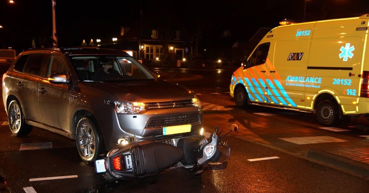 Scooterrijder gewond naar het ziekenhuis na ongeval in Sprang-Capelle.