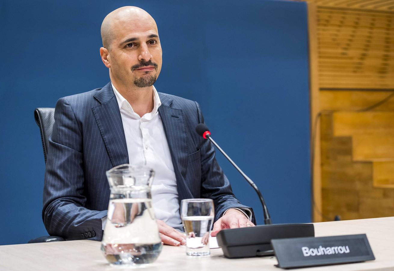 Saïd Bouharrou, de Nijmeegse vicevoorzitter van de Raad van Marokkaanse Moskeeën Nederland (RMMN), tijdens de de openbare verhoren van de parlementaire ondervragingscommissie.