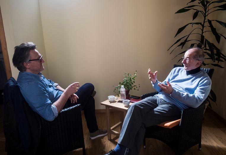 Lohan Leman: 'Ik zie mijzelf niet als een publieke intellectueel. Ik zie mijzelf als iemand met een sociale opdracht.' Beeld Karel Duerinckx