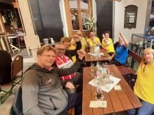 PSV-supporters voor het eerst weer in groten getale de grens over om hun ploeg te steunen