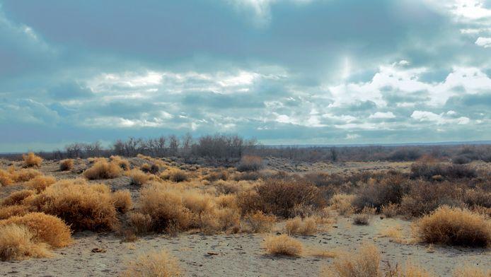 De dorpjes bevinden zich in de uitgestrekte Kazachse steppe.