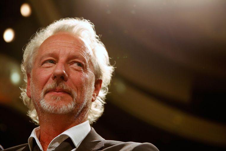 De Vlaming Stefan Hertmans tijdens de uitreiking van de AKO Literatuurprijs in de Koninklijke Schouwburg in Den Haag. Beeld anp