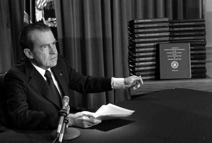 Le scandale du Watergate avait poussé le président américain Richard Nixon à démissionner.