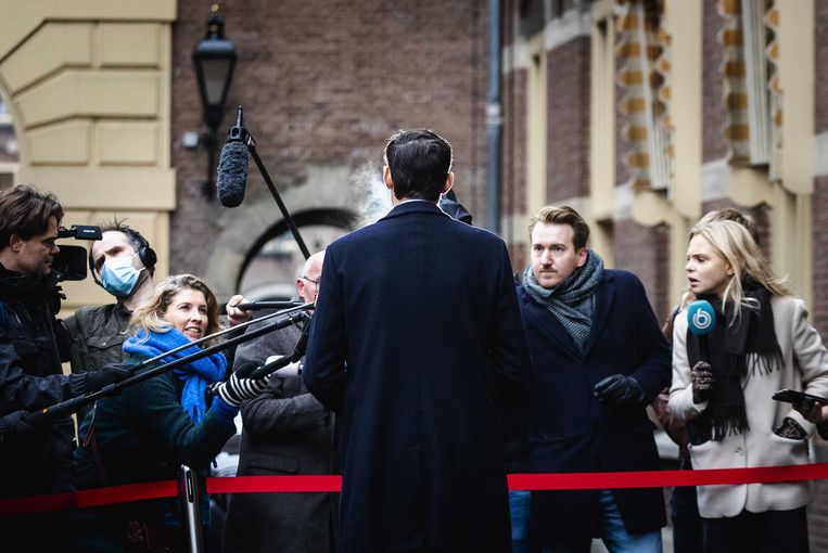 Wopke Hoekstra op het Binnenhof voorafgaand aan de wekelijkse ministerraad. Beeld ANP