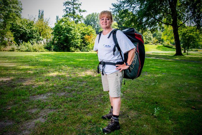 Margot Kraneveldt is helemaal klaar voor haar reis naar de Oostenrijkse bergen.
