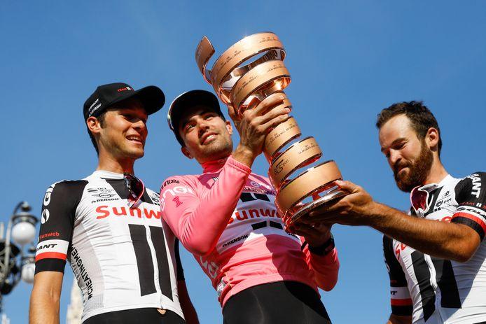 Tom Dumoulin als winnaar van de Giro in 207