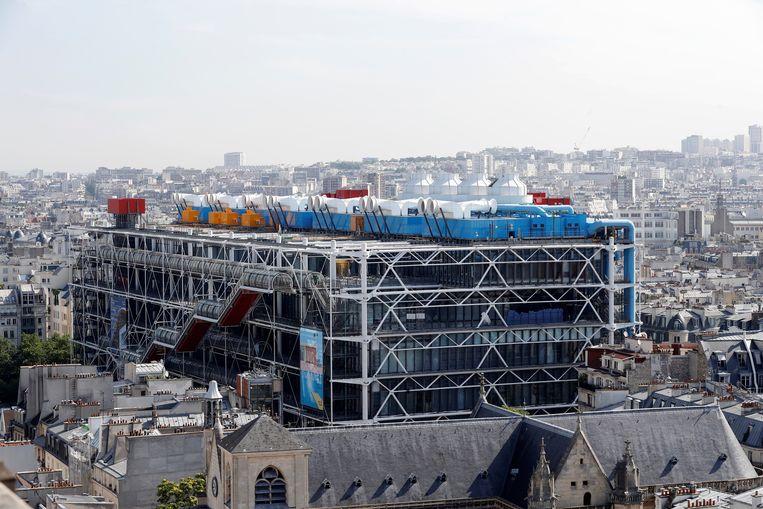 Het Centre Pompidou in Pariis, hier in 2017, gaat vanaf 2023 drie jaar dicht voor renovatie.   Beeld Hollandse Hoogte / Agence France Presse (AFP Photo)