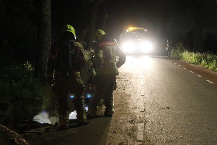 De Mookse brandweer heeft het gaslek ontdekt in Milsbeek.