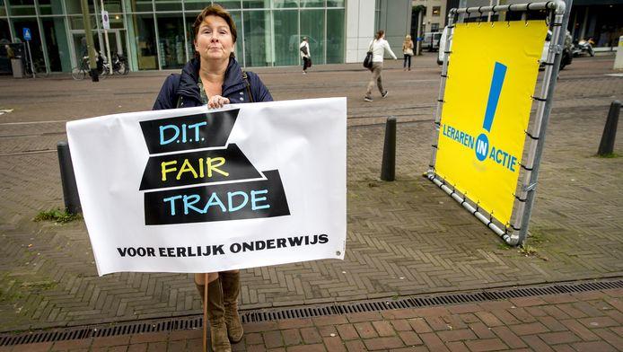 Leraren protesteerden eerder fel voor meer loon