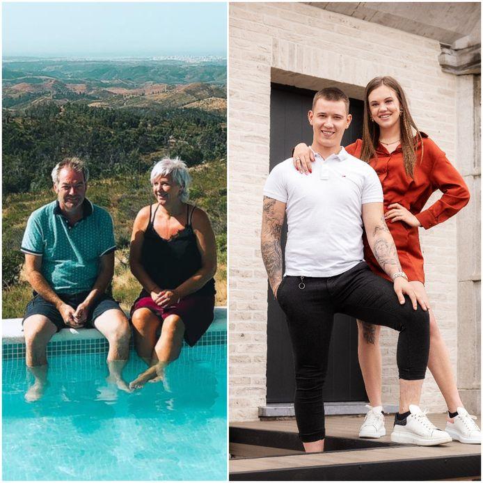 'Huis Gemaakt'-deelnemers Kenny en Amber krijgen een vierdaags verblijf in de Algarve cadeau van Gerrit en Ann.