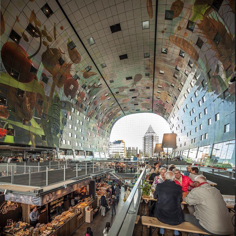 De Markthal in Rotterdam. Beeld Harry Cock / de Volkskrant