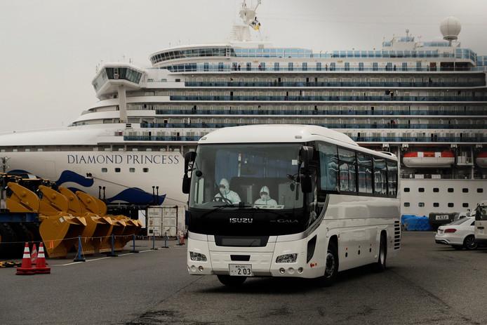 Le Diamond Princess à quai à Yokohama, pès de Tokyo.