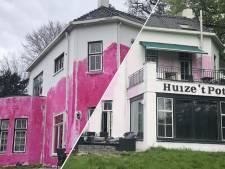 Knalroze studentenvilla in Enschede na 2 maanden eindelijk weer wit: 'Geen spijt van grap'