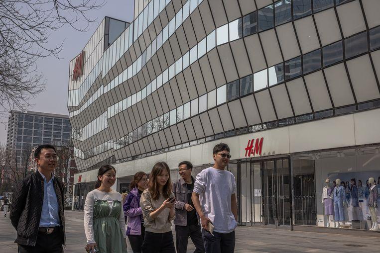 Een winkelpand van H&M in Beijing. Beeld EPA