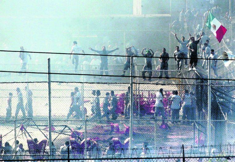 De opstandelingen hebben een deel van de gevangenis onder controle. Foto EPA Beeld