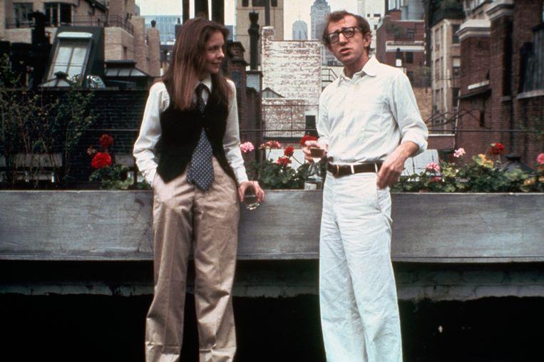 Diane Keaton and Woody Allen in zijn klassieker 'Annie Hall'.  Beeld Bettmann Archive