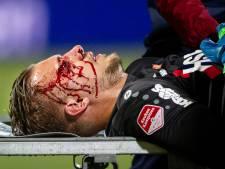 Oogkas Volendam-doelman verbrijzeld na ongelukkige botsing