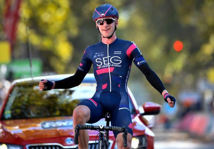 Marten Kooistra blijft nog een jaar de laatste winnaar van de Ronde van Zuid-Holland. In 2018 was hij de beste.