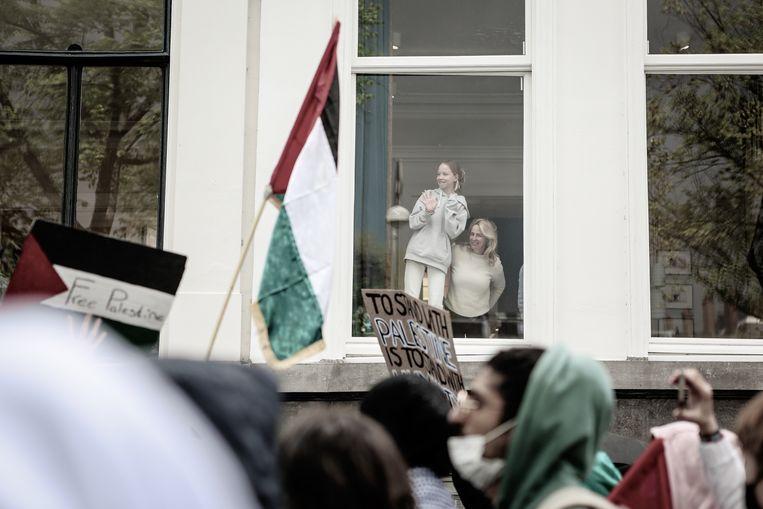 Pro-Palestina-demonstratie in Amsterdam, zondag 16 mei. Beeld Fouad Hallak