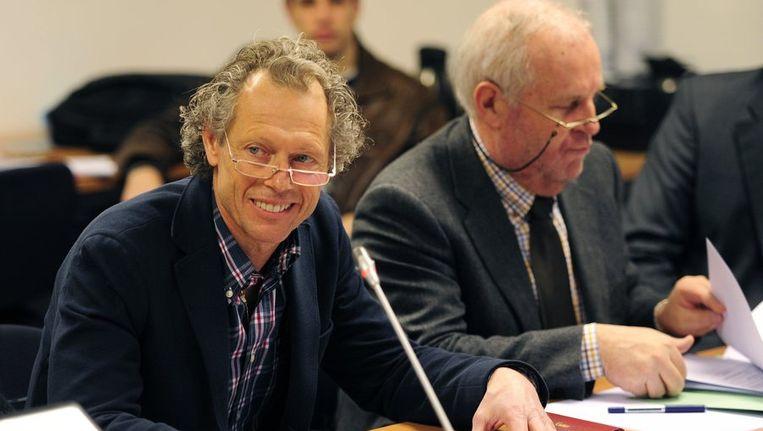Michel Preud'homme kreeg assistentie van advocaat Johnny Maeschalck, maar sprak vooral zelf. Beeld PHOTO_NEWS