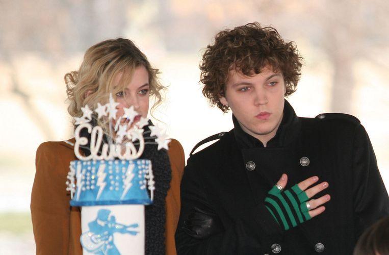 Benjamin Keough in 2010 met zijn zus Riley. Beeld Photo News