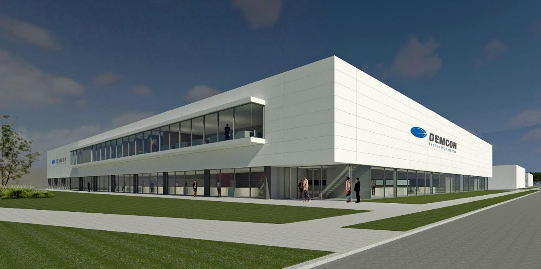 Het Demcon Technolgy Center  in Enschede is nog in aanbouw.