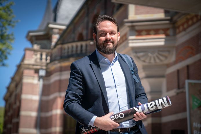 Mark Lauriks ten tijde vna de campagne die hij voerde voor het Europarlement voor de PvdA.