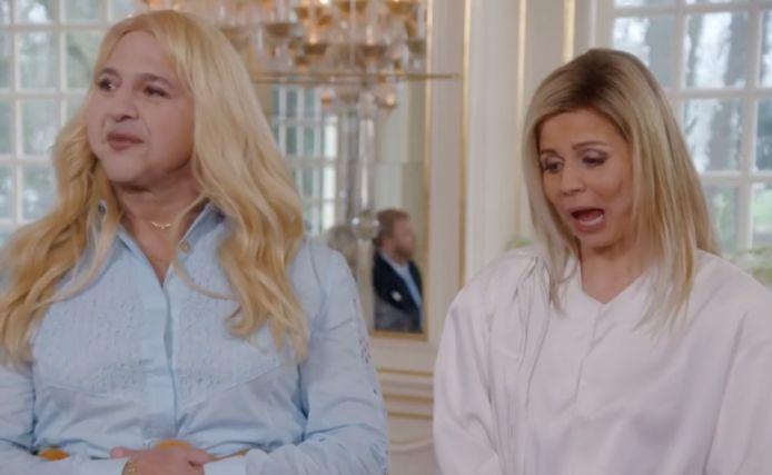Komiek Najib Amhali kroop in het tv-programma 'De TV Kantine' in de huid van de Nederlandse kroonprinses Amalia. 'Undercover'-actrice Elise Schaap imiteerde koningin Máxima.