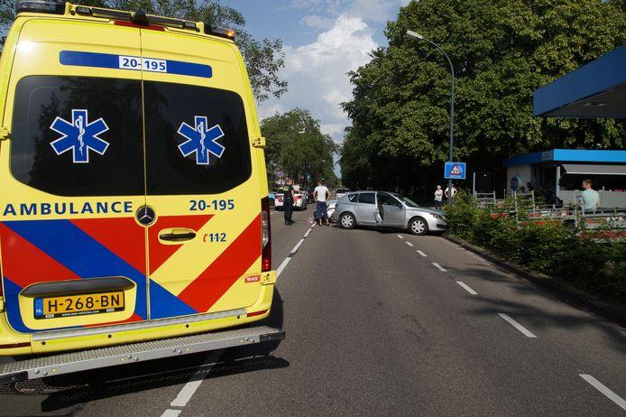 Ongeval op de Groenewoudlaan in Waalwijk