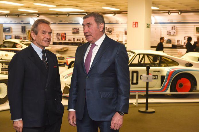 Jacky Ickx met Eddy Merckx.