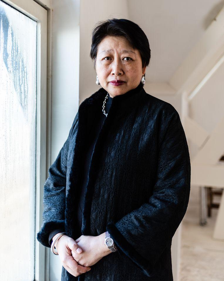 Zhu Dan, voorzitter van de Wuhan Universiteit Alumni Associatie voor de Benelux. Beeld Katja Poelwijk