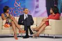 De toenmalige Amerikaanse president Barack Obama en First Lady Michelle Obama te gast bij Oprah in 2011.