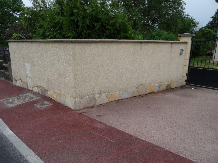 De muur waartegen Froome crashte.