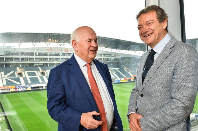 Gent-voorzitter Ivan De Witte en manager Michel Louwagie.