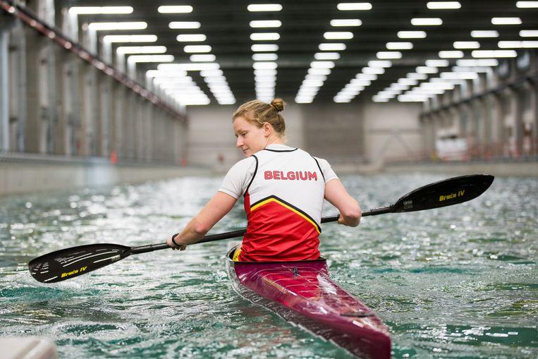 Kajakster Hermien Peters. Beeld DMOW - Sport Vlaanderen