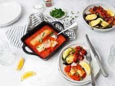 Wat Eten We Vandaag: Zalm in paprikasaus met geroosterde groenten