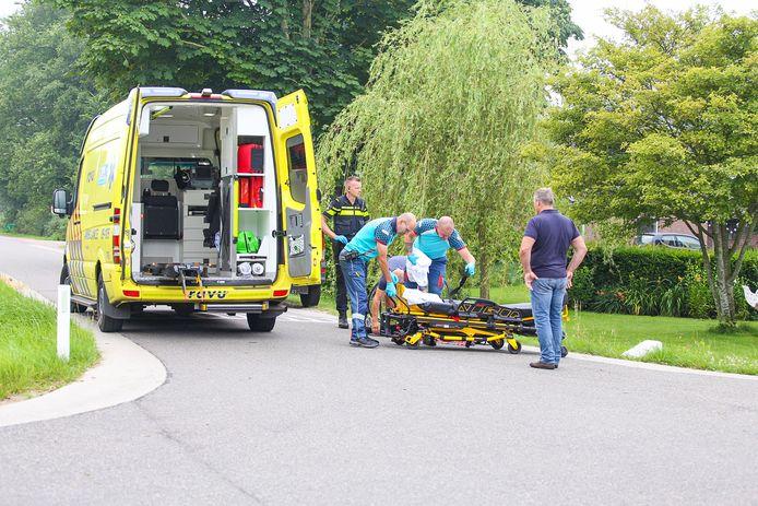Ongeval met een driewiel-wielrenner in Nijkerkerveen.
