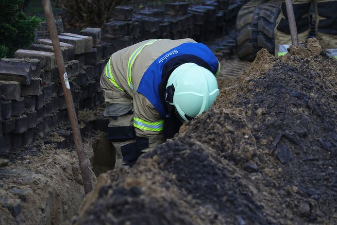 Foto ter illustratie. Werk aan een gasleiding.