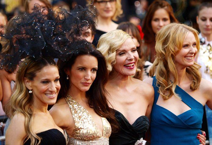 Sarah Jessica-Parker, Kristin Davis, Kim Cattrall en Cynthia Nixon in 2010.
