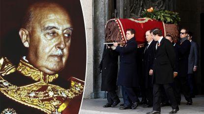 Spanje sluit pijnlijk hoofdstuk af: stoffelijk overschot laatste dictator, Francisco Franco, herbegraven